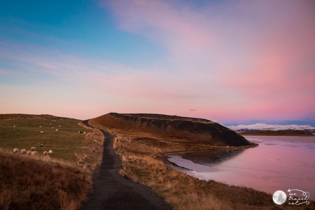 Els pseudocraters només e spoden veure a Islàndia i a Mart