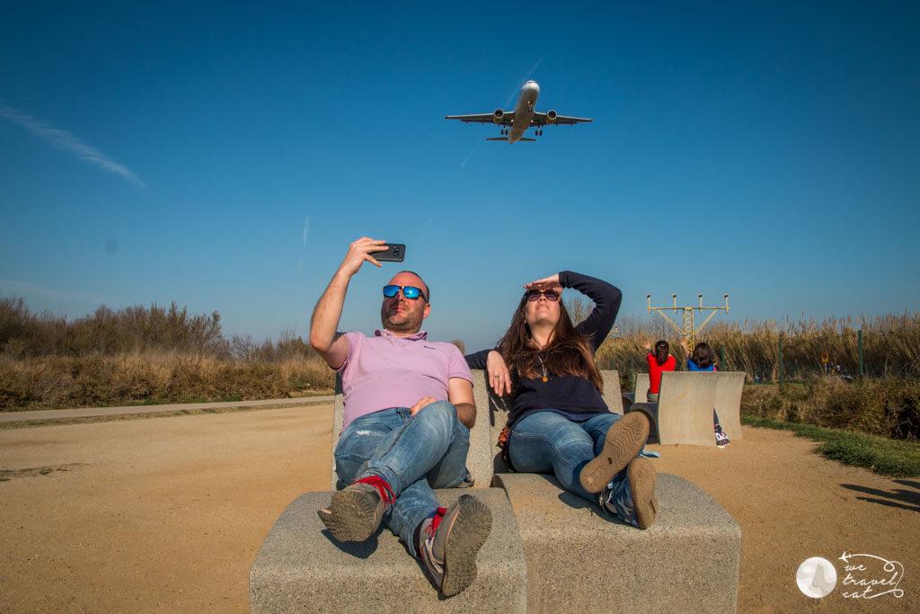 El mirador d'avions del Prat a la ruta pels espais naturals del riu Llobregat