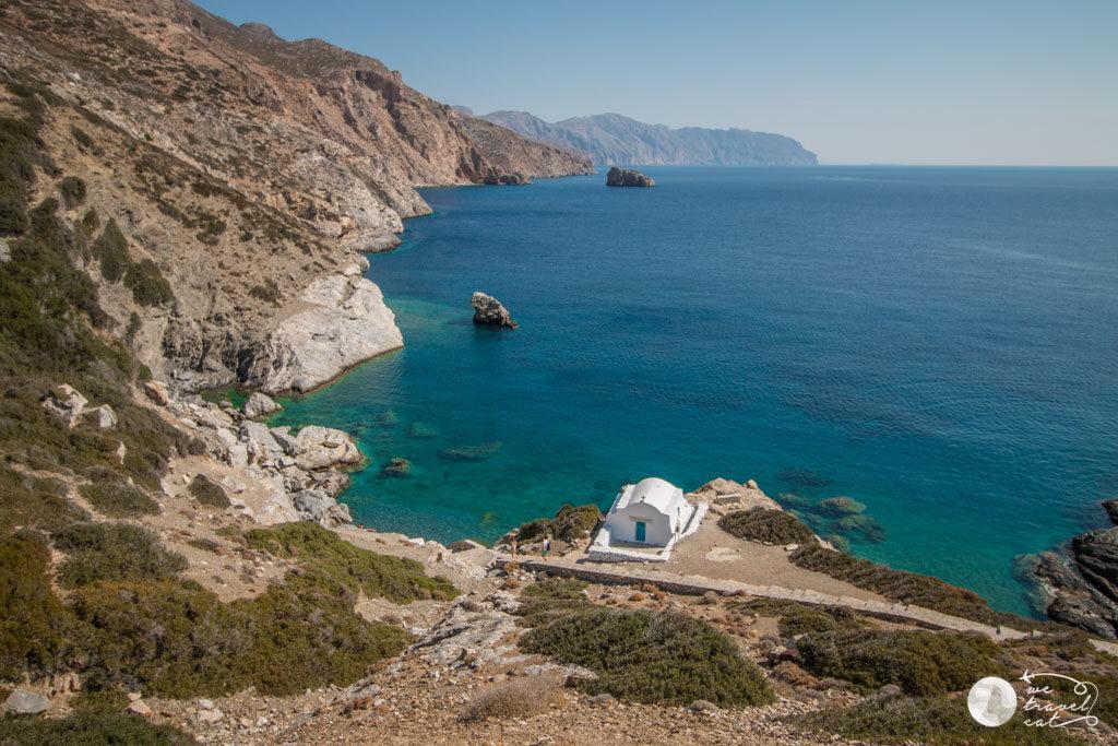 Agia Anna beach, una de les platges d'Amorgos - wetravelcat