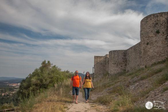 La muralla del castell de Claramunt - wetravel.cat