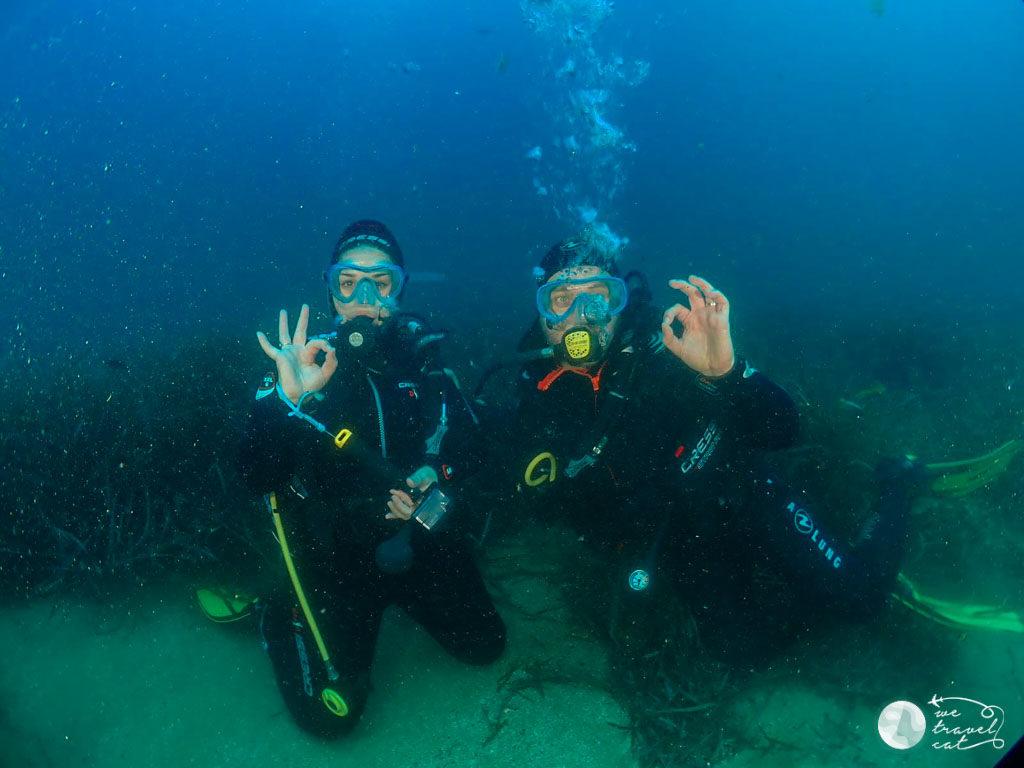 La Cris i en Carles fent submarinisme a Mataró - wetravel.cat