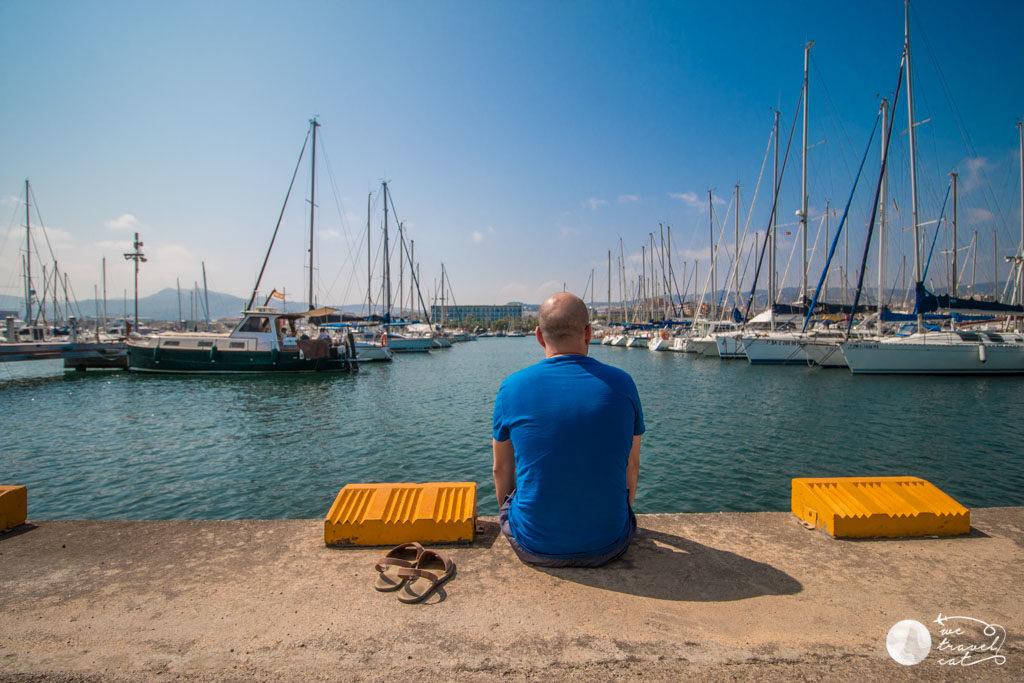 En Carles a punt de fer submarinisme a Mataró - wetravel.cat