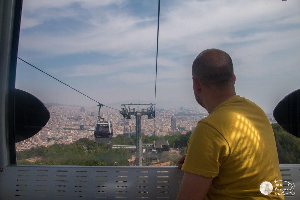EN Carles de wetravelcat al telefèric de Montjuïc - wetravelcat